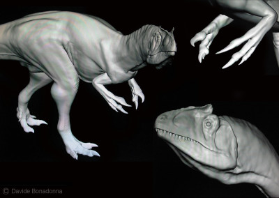 "ALLOSAURUS - ""Dinosaurs in the Flesh"" traveling exhibition - ClayTools - 2010 - Scientific supervisor: Simone Maganuco"