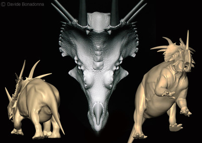 "STYRACOSAURUS - ""Dinosaurs in the Flesh"" traveling exhibition - ClayTools - 2010 - Scientific supervisor: Simone Maganuco"
