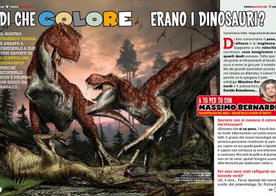 DI CHE COLORE ERANO I DINOSAURI?, Topolino 3107